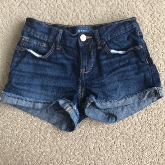 Old Navy Other - Dark cuffed jean shorts, 8
